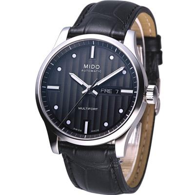 美度 MIDO Multifort 系列80小時機械腕錶-黑/42mm