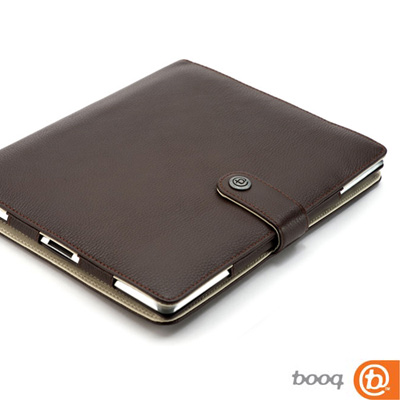 Booq Booqpad iPad 2 專用記事本型保護套(真皮棕-奶油)