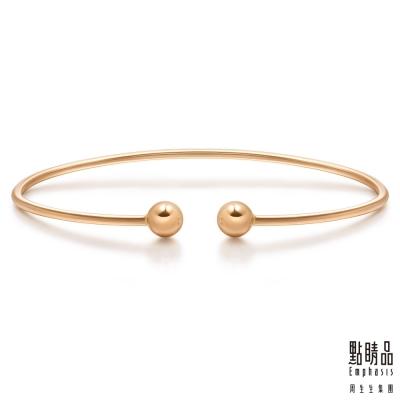 Wrist Play 18K玫瑰金開口式圓珠手環/手鐲