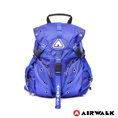 AIRWALK-Life-is-color-繽紛生活三叉扣彩色迷你後背包-繽紛藍