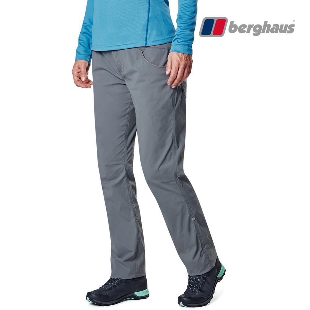 【Berghaus貝豪斯】女款彈性長褲S07F07-灰