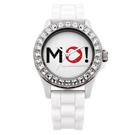 MORGAN 爵士讚歎晶鑽時尚腕錶-白/40mm