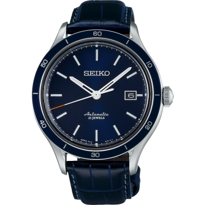 SEIKO-6R15精工23石都會機械腕錶-藍-4