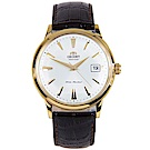ORIENT 成熟內斂自動上鍊機械腕錶(FAC00003W0)-白/40.5mm