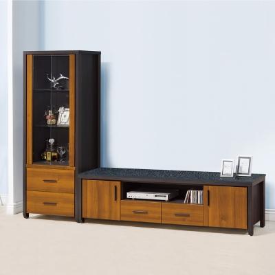 品家居 班森8.2尺雙色L櫃 展示櫃 長櫃 ~246x41x177cm免組