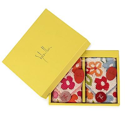 Sybilla 可愛花卉二入方巾禮盒