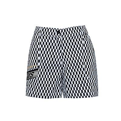 FILA 女平織短褲-白 5SHS-1465-WT