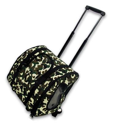 迷彩寵物外出拉桿式兩用旅行包