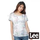 Lee 短袖T恤 連袖布料拼接成是彩印-女款(麻花灰)