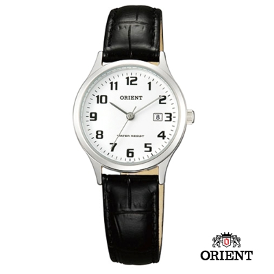 ORIENT 東方錶TRADITIONAL STYLE系列 復古石英錶-白x數字/28mm