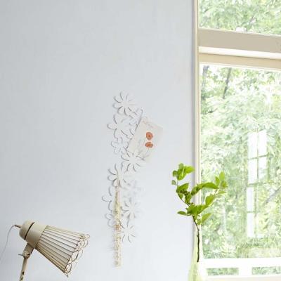 YAMAZAKI 壁飾收納 花朵造型-白