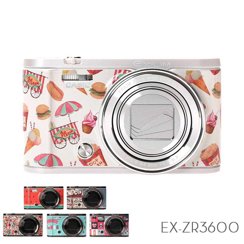 CASIO EX-ZR3600 【相機美人】百變貼膜32G組 (公司貨)