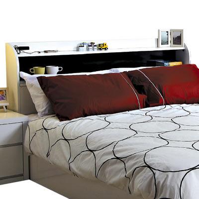 愛比家具 極簡瑞士多功能5尺雙人床頭箱