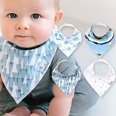 Copper Pearl 美國 蔚藍北極雙面領巾圍兜口水巾4件組