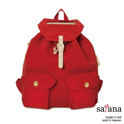 satana - 休閒束口後背包 - 中國紅