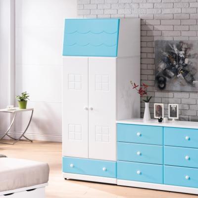 H&D 童話粉藍雙色2.5尺衣櫥_76*56.5*197cm
