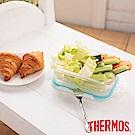 THERMOS 膳魔師 耐熱玻璃保鮮盒0.64L(Z-GFC640R-BL)