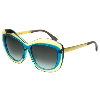 FENDI 時尚太陽眼鏡(黃+綠色)