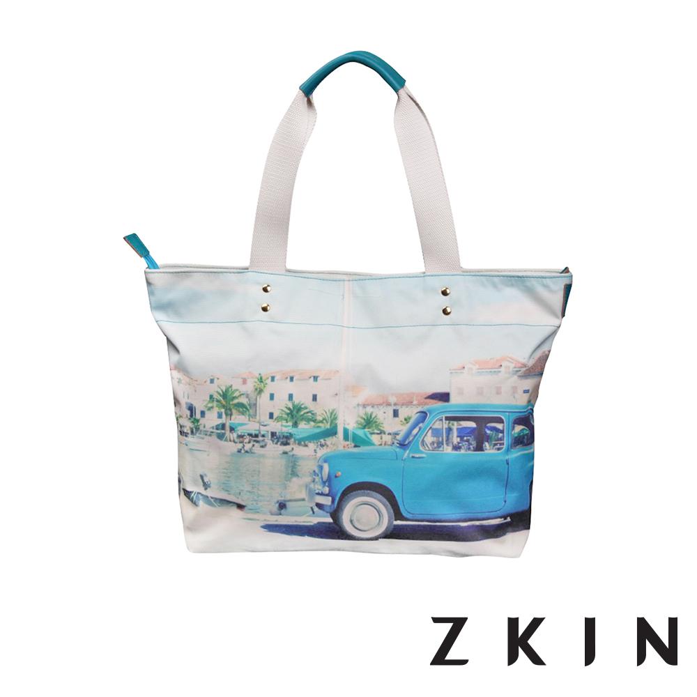 ZKIN Mukie 彩繪塗鴉單肩相機包(繪畫藍)