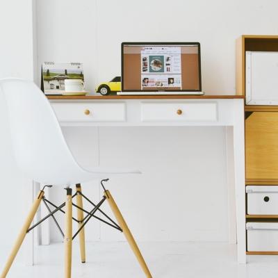 Home Feeling 雙色調日系雙抽電腦桌/書桌/辦公桌(100cm)