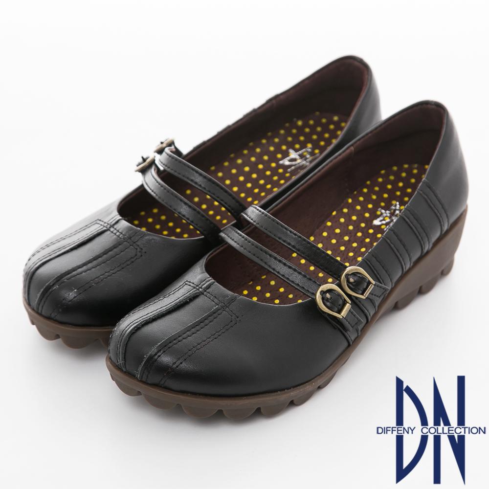 DN 手縫氣墊 高密度全真皮舒適休閒鞋 黑 @ Y!購物