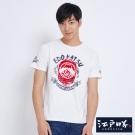 EDWIN EDOKATSU江戶勝燈籠植絨短袖T恤-男-米白色