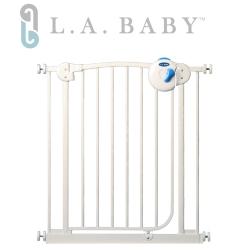 美國 L.A. Baby 雙向自動上鎖安全鐵門欄(三道安全鎖裝置)(贈一片延伸件)