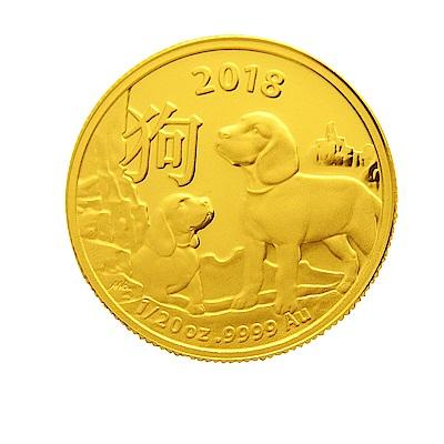 澳洲皇家生肖紀念幣-2018狗年生肖金幣(1/20盎司)
