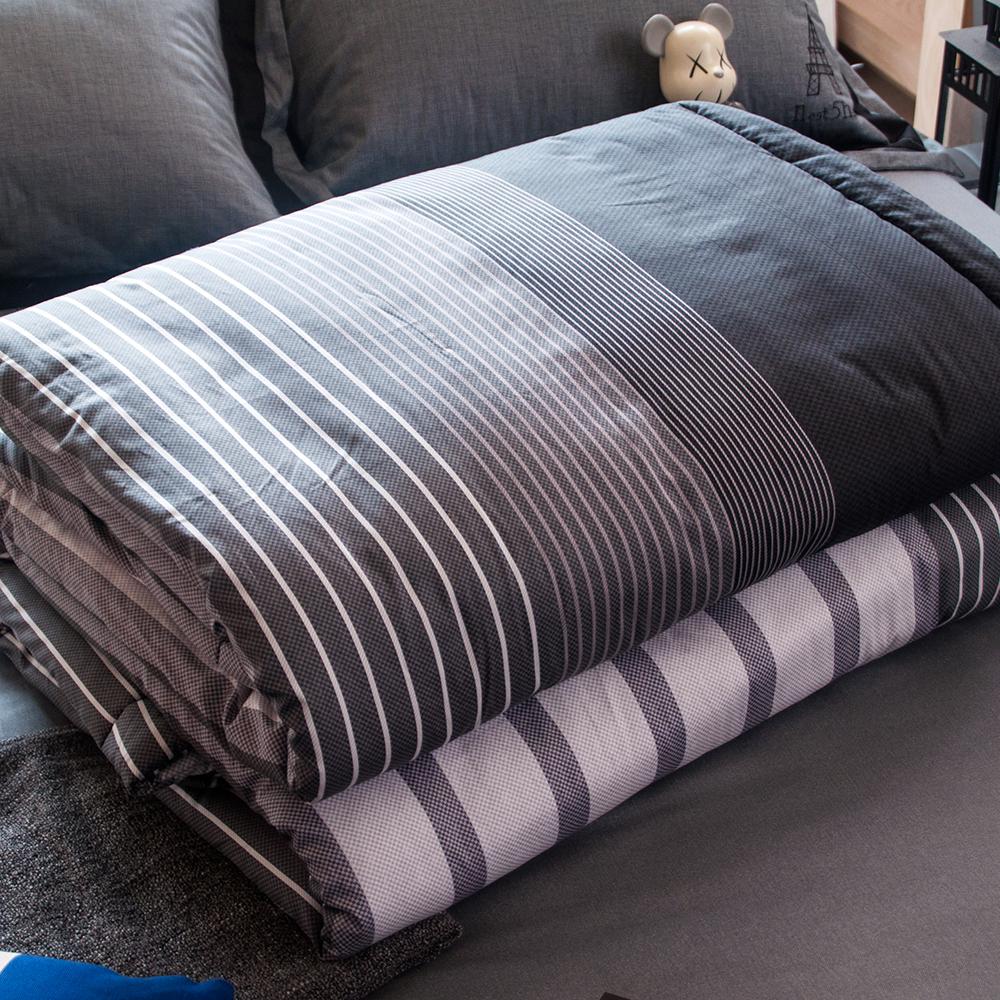 OLIVIA  諾爾曼 灰黑 5X6尺夏季涼被 台灣生產製造