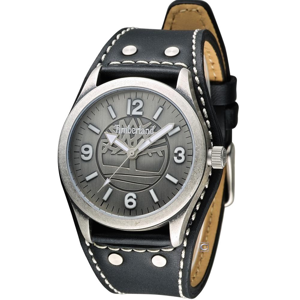 Timberland 男爵品味概念時尚腕錶-黑/41mm