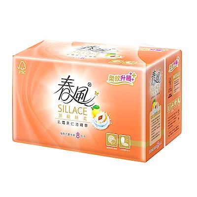 春風SILLACE乳霜果仁油抽取衛生紙110抽x8包x8串/箱