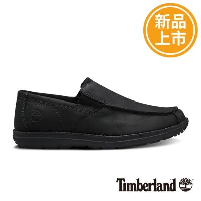 Timberland 男款黑色絨面防滑皮革方頭便鞋 @ Y!購物