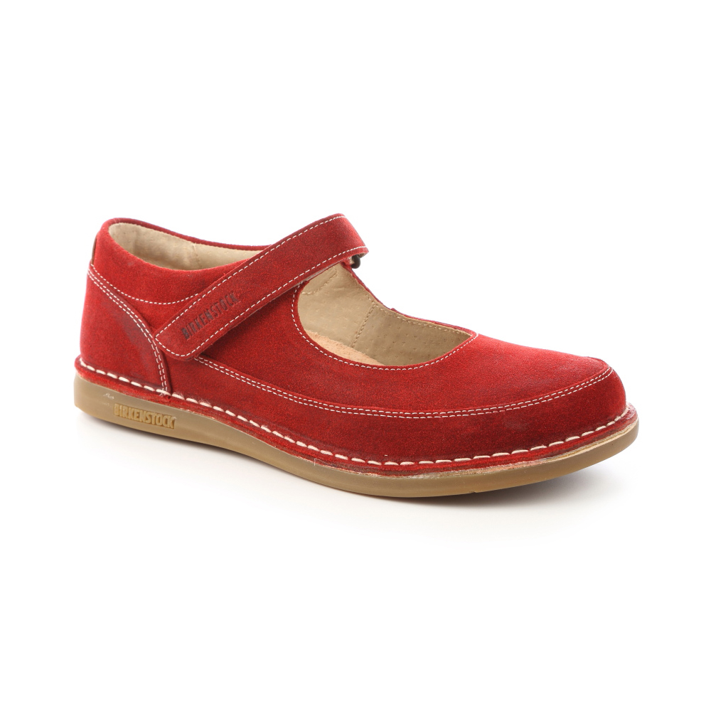 勃肯BIRKENSTOCK 493021。瓊休閒包鞋(暗紅)