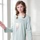羅絲美睡衣 - 童話人生長袖洋裝睡衣(藍綠色) product thumbnail 1