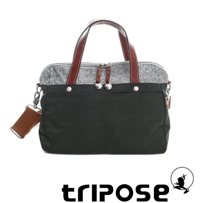 tripose 漫遊系列岩紋玩色兩用手提背包 綠色