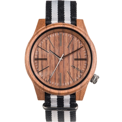 WEWOOD 義大利尼龍錶帶木頭錶 TORPEDO NUT GREY-45mm