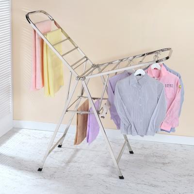 家可 不鏽鋼重型方管雙翼折疊曬衣架/掛衣架