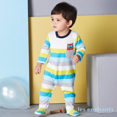les enphants 玩樂FUN 歡樂繽紛條紋連身褲 (共2色)