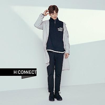 H:CONNECT 韓國品牌 男裝 - 立領拉鍊棉T-Shirt-黑