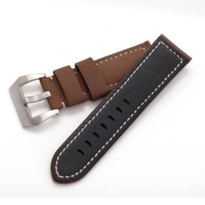 PARNIS BOX 沛納海代用 大型錶扣 進口錶帶 24mm 復古 麂皮革
