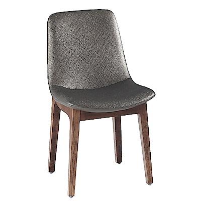 AS-亞爾曼銀灰色餐椅-46x55x86cm