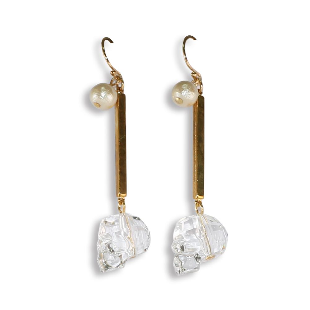 CARUTINA Floating系列水晶珍珠耳環 @ Y!購物