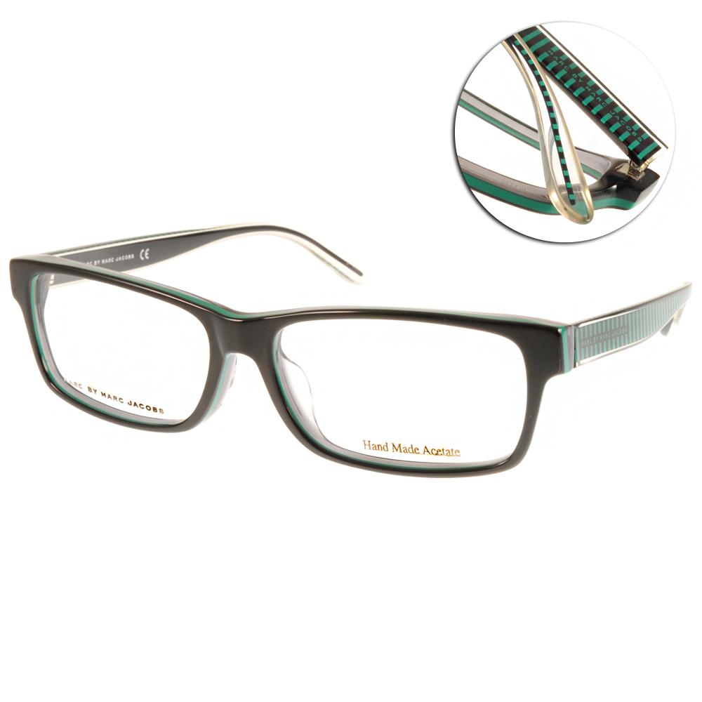 MARC BY MARC JACOBS眼鏡/黑-綠條紋#MMJ0037J CBF