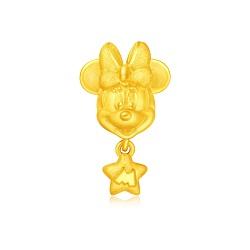 米妮字母星星黃金串飾