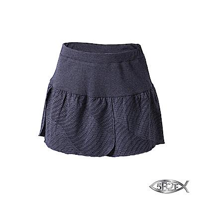 5 B 2 F 五餅二魚 幾何紋花瓣裙襬短褲