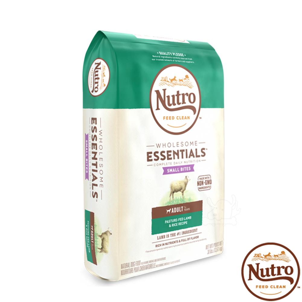 【Nutro 美士】全護營養 成犬 小顆粒(牧場小羊+健康米)15磅 X1包