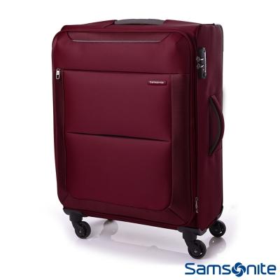 Samsonite新秀麗-20吋Basal可擴充布面TSA行李箱-紅