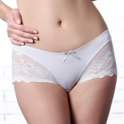 LADY 悸動系列 中低腰平口褲(冷光灰)