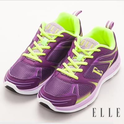 ELLE active時尚俏麗異材質混搭運動休閒鞋