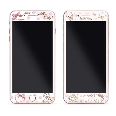 GARMMA Hello Kitty iPhone 7/8+plus 滿版鋼化玻璃膜-淑女系列